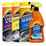 Armorall Carpet & Seat wipes - Dashboard Gloss Wipes - Glass Wipes & Glass Cleaner Spray