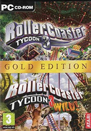 RollerCoaster Tycoon 3 & Wild Expansion Gold Edition