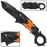 Rescue Squad EMS Tactical Emergency Pocket Knife (Color: Orange, Black, Tamaño: pocket size)