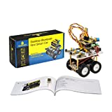 KEYESTUDIO Robot Car Kit for Arduino Uno R3 Project Kit 4WD Desktop Bluetooth Mini Smart Car with Tutorial for Stem Education