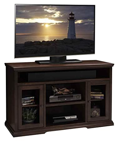 53.75 in. Tall TV Cabinet in Danish Cherry Finish