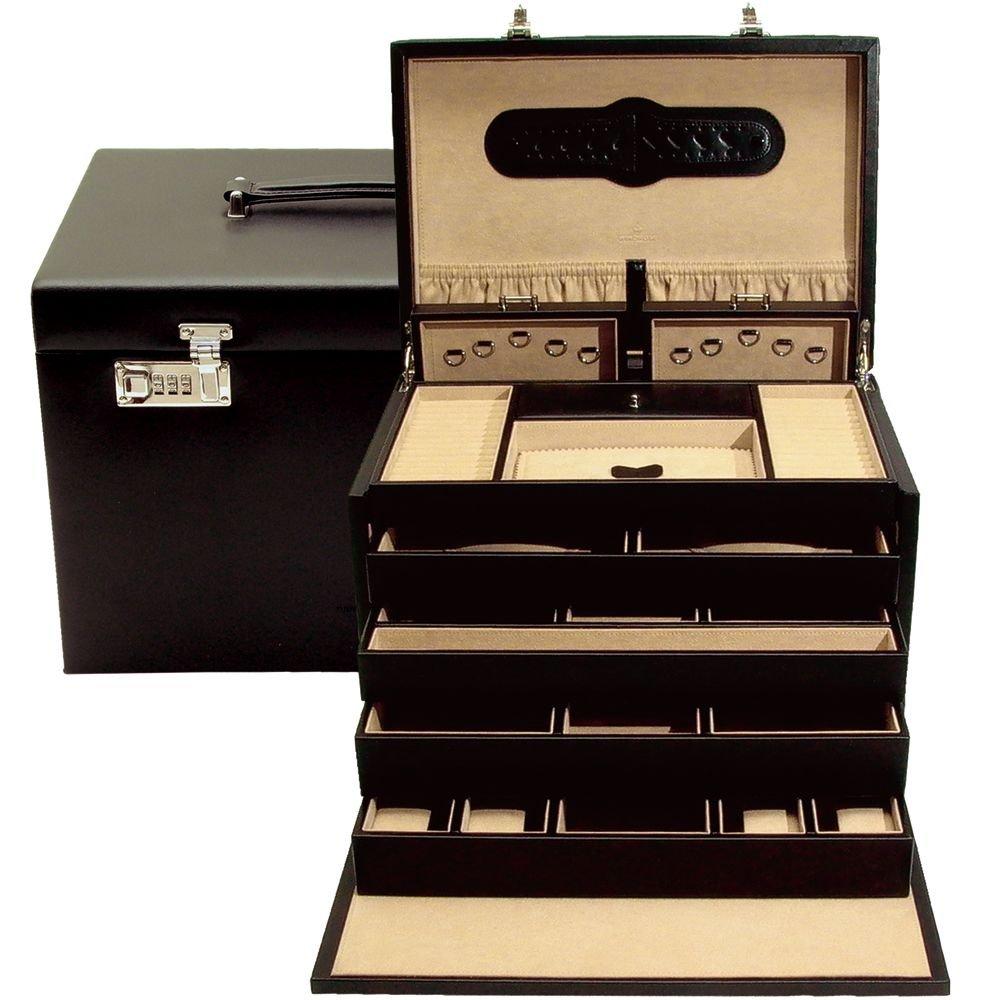 Windrose Ambiance Schmuckkoffer 37 cm Leder schwarz online kaufen