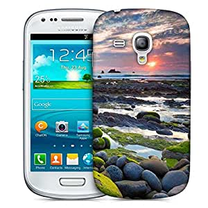 Snoogg Green Pebble Stone Designer Protective Phone Back Case Cover For Samsung Galaxy S3 Mini