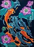 Chinese Art / Original Chinese Painting: Chinese Peasant Painting - Lotus & Fish