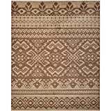 Safavieh Adirondack Collection ADR107C Camel and Chocolate Area Rug, 8 feet by 10 feet (8' x 10')