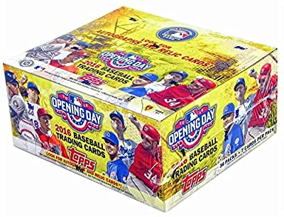 2016 Topps Opening Day Baseball Cards Hobby Box (36 Packs of 7 Cards - Possible autographs, memorabilia, stickers, or inserts) (Release Date - 03/16/2016)