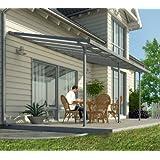 Hochwertige Aluminium Terrassenüberdachung, Terrassendach 300x1035 cm (TxB) - grau