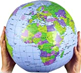 Inflatable Globe Blow Up Globe World Map Atlas Ball Earth Map Blow Up Ball 40cm