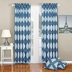 Serenta Dobson Printed Curtain and Pillow Set, 70\