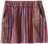Lucky Brand Girls 7-16 Striped Skort, Tangerine, Small