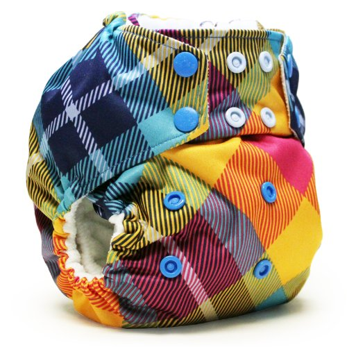 Rumparooz One Size Cloth Pocket Diaper Snap, Preppy - 1