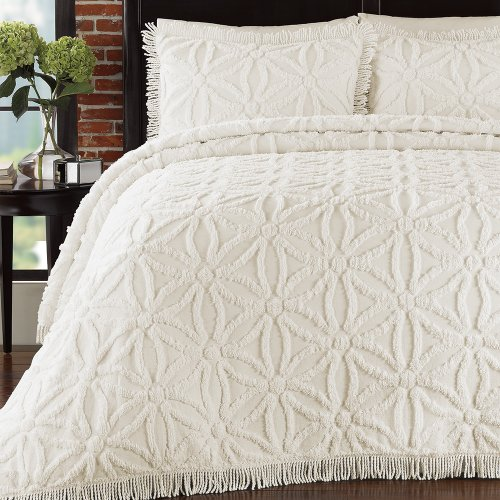 Read About Lamont Home Arianna Bedspread, Queen, Ivory