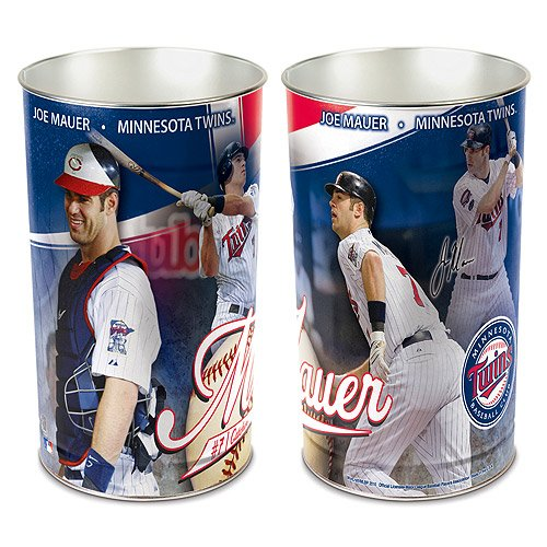 MINNESOTA TWINS JOE MAUER WASTEBASKET