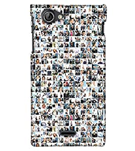 Print Haat Back Cover for Sony Xperia J (Multi-Color)