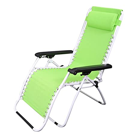 HWF Tumbonas Sillas plegables Office Siesta Recliner Silla de verano de playa de arena Silla de respaldo simple ( Color : A )