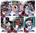 2016 Topps Opening Day Boston Red Sox Team Set of 11 Cards: Brian Johnson(#OD-7), Rick Porcello(#OD-9), Xander Bogaerts(#OD-77), Jackie Bradley Jr.(#OD-98), Brock Holt(#OD-103), Mookie Betts(#OD-112), David Ortiz(#OD-138), Dustin Pedroia(#OD-139), Hanley