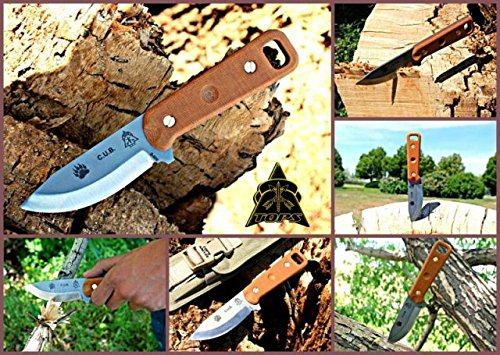 Tops Knives CUB Fixed Blade Knife,3.75in,Razor