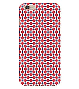 Diamond Checkered 3D Hard Polycarbonate Designer Back Case Cover for Apple iPhone 6 Plus