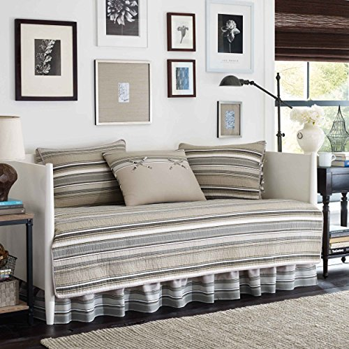 Best Deals! Stone Cottage Fresno Neutral 5-Piece Daybed Quilt Set,Ivory,Daybed