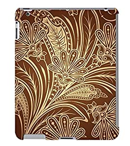 Fuson 3D Printed Pattern Designer Back Case Cover for Apple iPad 3 - D1108