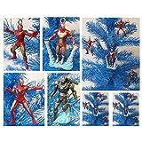 Iron Man 4 Piece Holiday MINI Christmas Ornament Set Featuring War Machine Silver Centurion Iron Man And Iron...