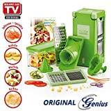 AKTIONSPREIS ORIGINAL Genius Nicer Dicer Magic Cube, Set 12tlg. - Nachfolger Nicer Dicer Fusion - NEUHEIT AUS TV