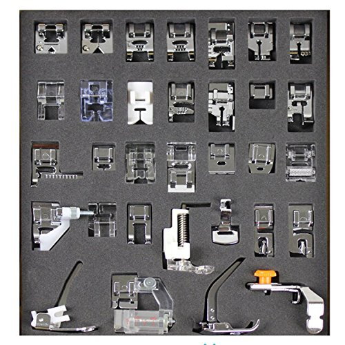Tinksky 32pcs Domestic Sewing Machine Presser Foot Set for Brother Babylock New Home Janome Elna Toyata Singer NewHome (Pressure Feet For Sewing Machines compare prices)