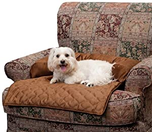 Solvit Bolstered Pet Bed Protector, Medium, Cocoa