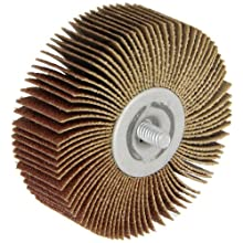 Merit Super Finish Quick-Change Mini Grind-O-Flex Abrasive Flap Wheel, Threaded Spindle, Ceramic Aluminum Oxide