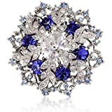 New Blue Bridal Snowflake Brooch Pendant- 5cm x 5cm - Gift For Her