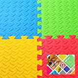 Gallant Outdoor Indoor Protective Kids Soft Floor Mats Interlocking Reversible Floor Matting suitable for Gym Baby Play Area Exercise Yoga Pilates Martial Art Mats Free Edge Pieces 4 tiles 16sqft