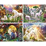 Masterpieces 11519 Glitter Unicorns 4-pack Puzzle - 100 Piece by MasterPieces