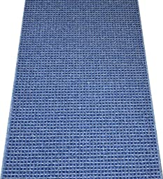 Washable Non-Skid Carpet Rug Runner - Michelle Blue (5\')