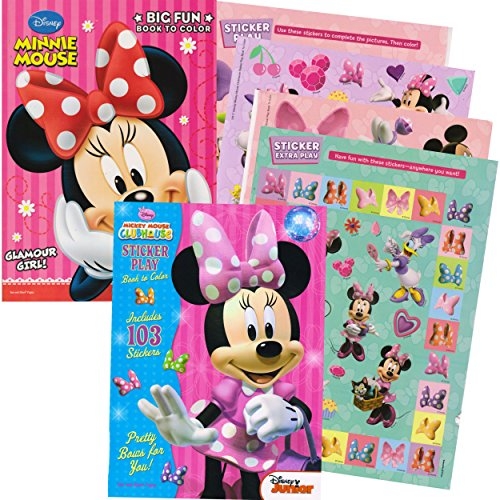 Minnie Mouse Coloring Book Set with Stickers (2 Book Set)