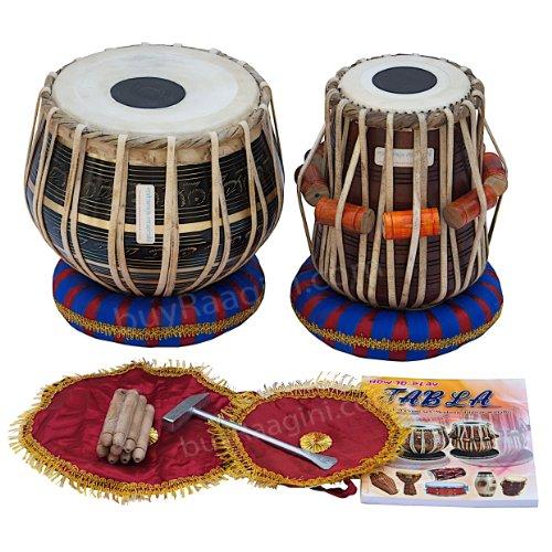 maharaja-tabla-drum-set-3kg-black-brass-bayan-finest-dayan-with-book-hammer-cushions-cover-pdi-ea