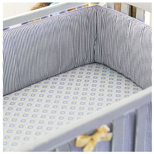 Serena & Lily Graham Crib Bumper- Blue - 1