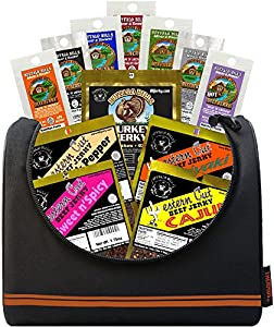 Buffalo Bills 1.75oz Beef Jerky Basketball 6-Pack Gift Cooler (filled with 12 assorted 1.75oz packs of beef jerky)