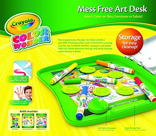 Crayola Color Wonder Mess Free Art Desk With Stamper With