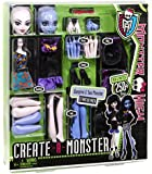 "Mattel X3724 - Monster High, set di base ""Create-A-Monster"" con strega e gatto"