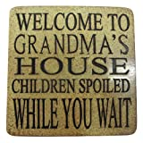 Boxer Gifts Welcome to Grandma's House StoneWitWords Coaster
