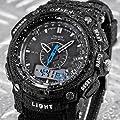 AMPM24 Oshen Mens Waterproof Digital Quartz LCD Alarm Date Military Sport Rubber Watch OHS049