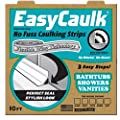 "Easy Caulk ""Press in Place"" White Bath and Shower Caulk Strips"