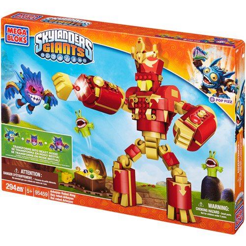 Mega Bloks Skylanders Giants Arkeyan Robot King Building Set