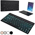 Cooper Cases(TM) Aurora Toshiba Excite 10 SE (AT300SE) / 13 (AT335) Wireless Bluetooth Keyboard in Black (Android/Windows/iOS Compatible; Built-in English QWERTY Keyboard w/ 78 Laptop-Style Keys; Bluetooth 3.0 Connectivity; Backlighting Feature in 7 Colors; Lightweight, Portable Design)