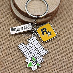 PS4 Xbox PC Rockstar Game GTA Grand Theft Auto 5 Keychains For Men Fans Free Shipping