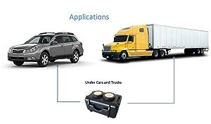 Optimus Twin Magnet GPS Tracker Case - Waterproof - Neodymium Magnets (Color: Black)