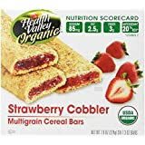 Health Valley Organic Multigrain Cereal Bars, Strawberry Cobbler, 6 Count