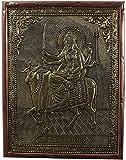Kapasi Handicrafts Brass Copper Goddess Umiya Wall Hanging (25 cm x 2.5 cm x 33 cm, Golden)