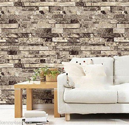 xmqccottage-rustico-chic-3d-vinile-a-trama-goffrata-piastrelle-grigio-pietra-mattone-wallpaper