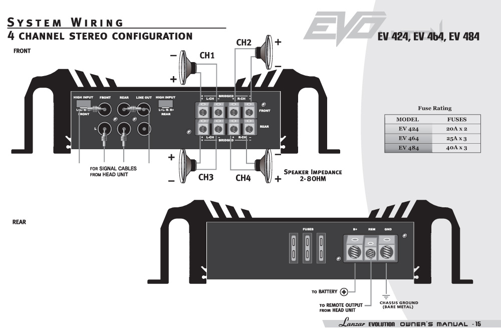 Diagram  Dual Xpr4640 Car Amp Wiring Diagram Full Version